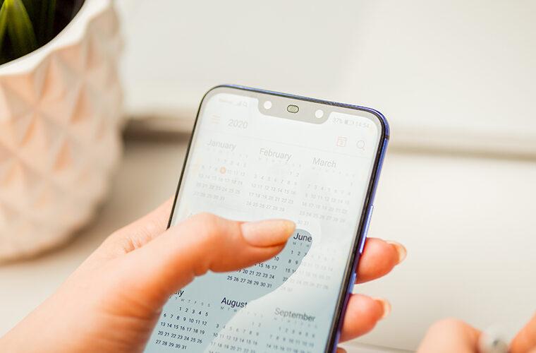телефон-календар